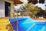 Aluminum Handrails, Balcony Railing, Stairs and Support Equipments Production for Handicapped Individuals