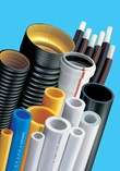 Polypropylene Pipes, Composite Pipes, Aluminium Foil Covered Pipes, PEX-b, PE-RT, Wastewater Pipes and Fittings