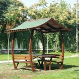 Triangle Roofed Picnic Table